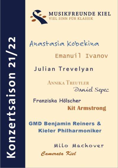 Deckblatt Prospekt - Verein Musikfrende Kiel Webseite